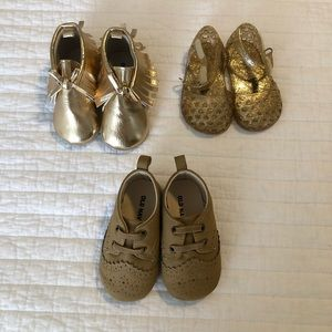 Baby girl shoes moccasins and jelly